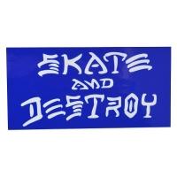 THRASHER Skate And Destroy ステッカー BLUE USA企画