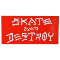 THRASHER Skate And Destroy ステッカー RED USA企画