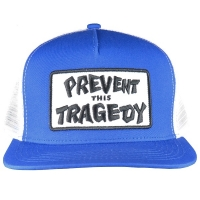 THRASHER Prevent This Tragedy メッシュキャップ BLUE×WHITE USA企画