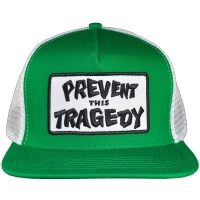 THRASHER Prevent This Tragedy メッシュキャップ GREEN×WHITE USA企画