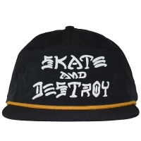 THRASHER Skate And Destroy Puff Ink スナップバックキャップ USA企画