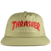 THRASHER Magazine Logo Two-Tone スナップバックキャップ TAN×RED USA企画