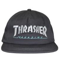 THRASHER Magazine Logo Two-Tone スナップバックキャップ GREY×SILVER USA企画