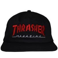 THRASHER Magazine Logo Two-Tone スナップバックキャップ BLACK×RED USA企画