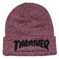 THRASHER Embroidered Logo ニット帽 HEATHER MAROON USA企画