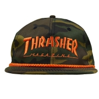 THRASHER Rope スナップバックキャップ CAMO USA企画