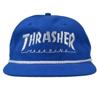 THRASHER Rope スナップバックキャップ BLUE USA企画