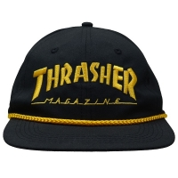 THRASHER Rope スナップバックキャップ BLACK USA企画