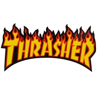 THRASHER Flame Logo ステッカー YELLOW USA企画