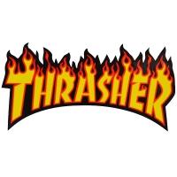THRASHER Flame Logo ステッカー YELLOW USA企画