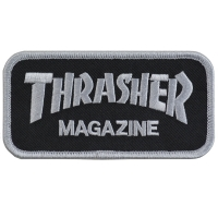 THRASHER Mag Logo 刺繍 ワッペン BLACK USA企画