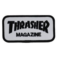 THRASHER Mag Logo 刺繍 ワッペン WHITE USA企画