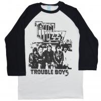 THIN LIZZY Trouble Boys ラグラン ロングスリーブ Tシャツ