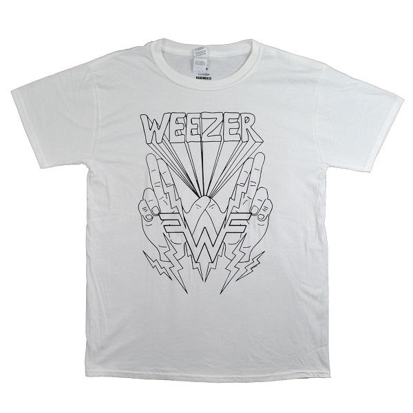 7666165f WEEZER Lightning Hands Tシャツ   TRADMODE
