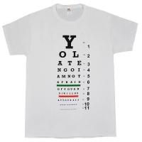 YO LA TENGO Eye Chart Tシャツ